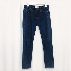 Madewell Mid-rise skinny dark wash jeans. Size 26